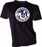 CLEVELAND CRUSADERS DEFUNCT OLD TIME WHA HOCKEY Black T-SHIRT NEW Size s-4xl