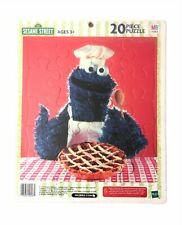 NEW 2003 Milton Bradley Sesame Street Cookie Monster Tray Puzzle COMPLETE