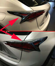 Chrome Rear Tail Light Cover Trim for 2015-2017 Lexus NX200T NX300H ABS