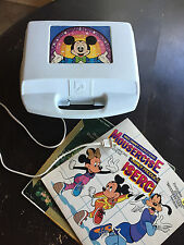 VINTAGE MICKEY MOUSE RECORD PLAYER DAYLIN TURNTABLE PHONOGRAPH INCLUDES RECORDS