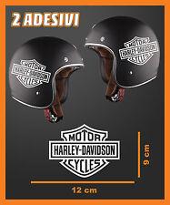 ADESIVO DECAL 2 STICKERS REPLICA HARLEY DAVIDSON MOTOR CASCO MOTO CUSTOM