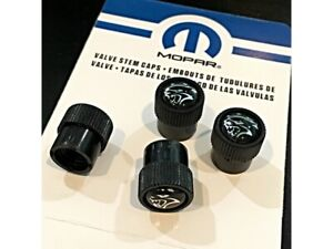New Dodge Challenger Charger SRT HELLCAT Tire Valve Stem Caps Mopar OEM