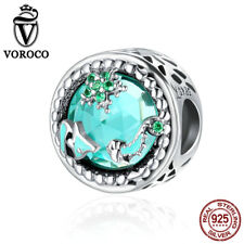 VOROCO Star Glow S925 Sterling Silver Fit Charm Bead With Enamel Crystal Present