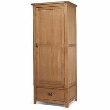 Paloma oak bedroom furniture single wardrobe with drawer