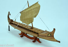 """BIREME Ancient Ship 32"""" - Handcrafted Wooden Ship Model NEW"""