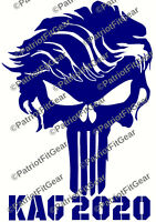 USAF,Air Force,Logo,Punisher Skull,Threeper,Fly Fight Win,Skull,2A,Vinyl Decal
