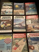 Vintage Mechanix Illustrated Magazine Lot Of 9 Magazines 1950's-60's.     Lot 1