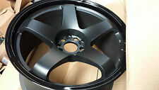 Rota P45R 18x9.5 (5x114.3 +20mm 73 Hub) Flat Black w/Glossy Black Lip 4 Wheels