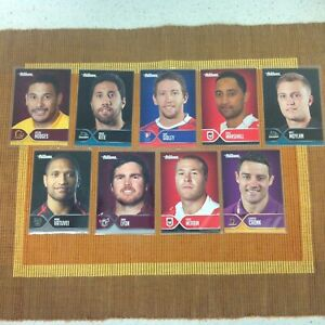 2015  NRL TRADERS FACES OF THE GAME  x 9 CARDS IN PROTECTIVE SLEEVES.