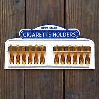 Vintage Original BEST MADE CIGARETTE HOLDERS Store Display 1950s