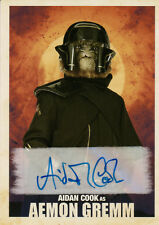 Star Wars A Solo Story, Aidan Cook 'Aemon Gremm' Autograph Card