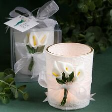 Stunning Calla Lily Design Candle Favor Wedding Elegant Flower Reception Gift