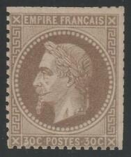 """FRANCE STAMP TIMBRE N° 30 """" 30c NAPOLEON III 1867 """" NEUF SANS GOMME A VOIR"""