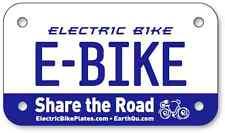 "***** E-BIKE Electric Scooter Bike License Plates 4""x7"" *****"