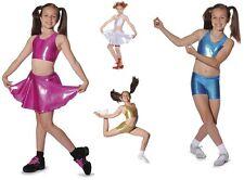 ROCH VALLEY GIRLS DANCE GYMNASTICS CROP TOP METALLIC + SKIRTS
