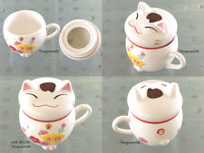 Lucky Cat Ceramic Coffee Milk Tea Cup Mugs A Lovely Gift