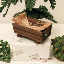 """Fontanini Italy 5"""" or 7.5"""" Wood Feeding Trough/Manger w/Hay 1998 Accessory Nib"""