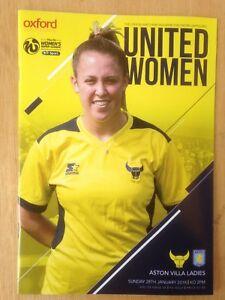 Oxford United Women v Aston Villa Ladies - League Match - 28th January 2018
