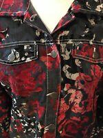 Dolcezza Jacket Cut Velvet Women's Art Rococo Pattern A39