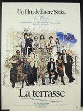 Ettore Scola la Terrasse Vittorio Gassmann J L Trintignant affiche de film