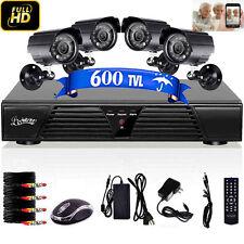 2015 4CH CCTV Security H.264 DVR Recorder 4 IR Video Surveillance Camera Kit
