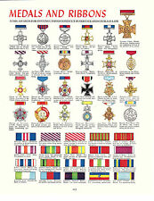 Medals and Ribbons. Military, Centurion Tank, Great Print. circa 1960s