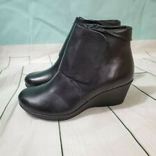 DANSKO Women's 'Romy' Black Burnished Nappa Leather Ankle Booties~Size 40