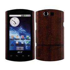 Skinomi Phone Skin Dark Wood Cover+Clear Screen Protector for Acer Liquid E