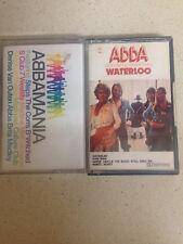 abba music cassette x 2..... waterloo / abbamania
