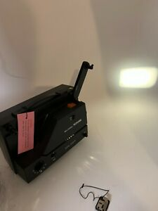 NOS Bell & Howell 10MS Dual 8mm Super 8 Variable Speed Movie Projector see video