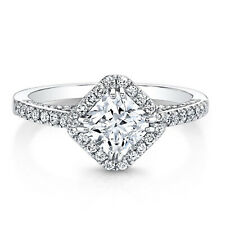 Princess Cut 1.82 Ct Diamond Engagement Ring 14K Solid White Gold Band Size 6 7