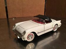 1953 Corvette white w/black top Racing Champions 1:32 loose missing tail