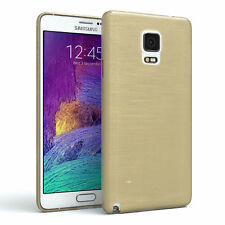 Schutz Hülle für Samsung Galaxy Note 4 Brushed Cover Handy Case Gold