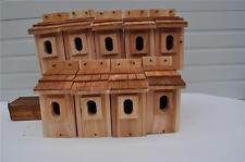 10 BLUEBIRD BIRD HOUSES NEST BOX CEDAR  PETERSON OVAL OPENING HANDMADE  FREE S/H