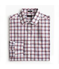 Men's J.Crew Ludlow Shirt in Red & Blue Tattersall Size Small RRP £100