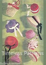 ~ Vintage Barbie Fashion Doll, Hats & Bags  Reproduction Crochet Pattern-