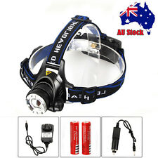 NEW 5000LM CREE XM-L T6 LED Rechargeable Headlamp Headlight Torch18650 Charger