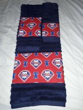 Philadelphia Phillies 3 Piece Bath Towel Set Handmade  Great Gift!!