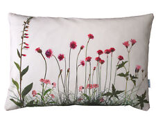 rosa Wiesenblumen, Kissenhülle, Blumenkissen, Baumwolle, Blumenmotiv rose