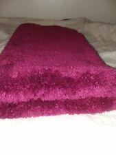 Maroon Plush Bathroom powder room burgandy Rug 37x23 Inch Clean nonslip A1