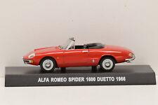 ALFA ROMEO SPIDER 1600 DUETTO 1966 CODA LUNGA IXO 1/43 NEUF EN BOITE POUR ALTAYA