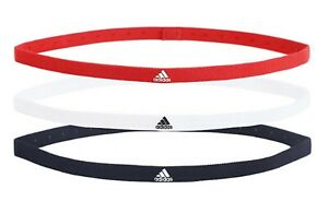 Adidas Unisex Hair-Band 3PP Headband Running White Navy Red Caual Bands FM0216