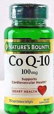 Nature's Bounty Co Q-10 100 mg, 75 Rapid Release Softgels - EXP 11/18 ~ NEW
