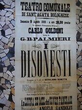 1908-TEATRO COMUNALE DI SANT'AGATA BOLOGNESE-Compagnia CARLO GOLDONI-MANIFESTO