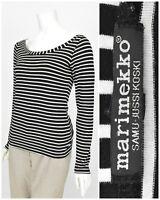 Womens Marimekko Samu-Jussi Koski Striped White Black Top Jumper Jersey Size L