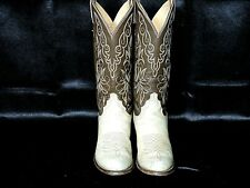 WOMENS VINTAGE JUSTIN 4513 BROWN LEATHER COWBOY WESTERN BOOTS SZ 7A