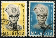 Malaysia 1966 SG#33-4 Yang Di-Pertuan Agong Used Set #D46624