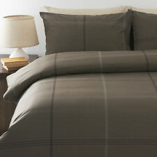 New Bentley Mocha Queen Size Quilt / Doona Cover Set  In 2 Linen Covers