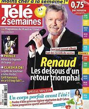 TELE 2 SEMAINES N°322 30 AVRIL 2016  RENAUD/ PRINCE/ MINCEUR/ HANOUNA/ HOLMES