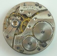 Antique Waltham 510 Mechanical Pocket Watch Movement - Parts / Repair